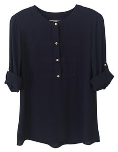 Banana Republic Longsleeve Comfortable Flowy Top Navy