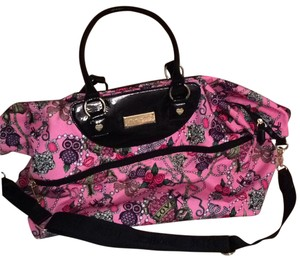 Betsey Johnson Pink/black Travel Bag