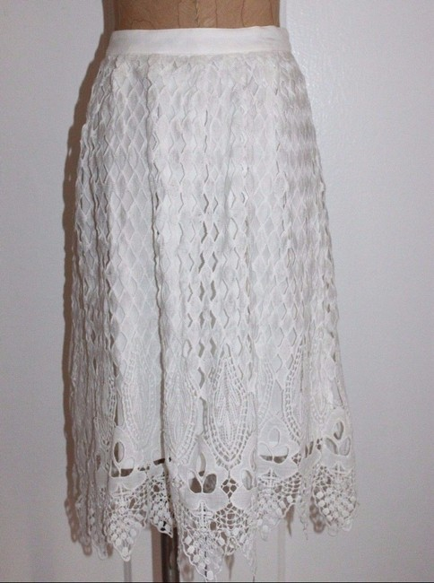 Jealous Tomato Lace Skirt WHITE Image 3