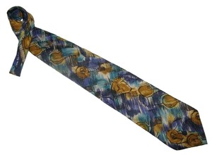 Krizia Men's 100% silk Art necktie Made in Italy
