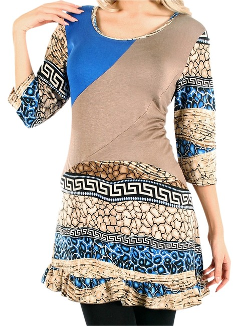 Preload https://img-static.tradesy.com/item/1853785/brown-tan-blue-lily-nwot-mocha-and-abstract-tunic-size-6-s-0-0-650-650.jpg