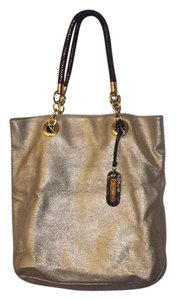 Cynthia Rowley Satchel in Shimmer Gold Leather