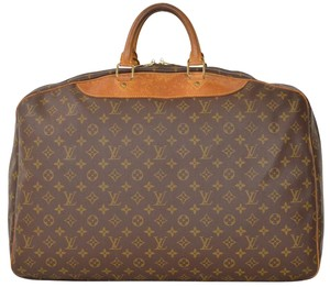 Louis Vuitton Duffle Duffel Keepall Suitcase Carry On Brown Travel Bag