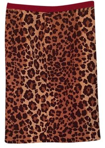 Moschino Animal Work Bodycon Brown Tan Skirt Leopard