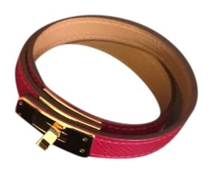 Herms Hermes Kelly Double Tour Bracelet M Red