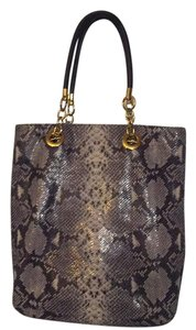 Cynthia Rowley Satchel in Snakeskin Black, Grey, White