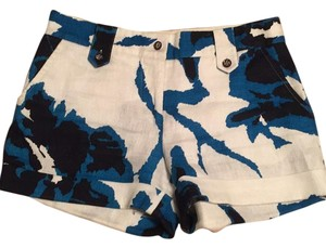 Tory Burch Mini/Short Shorts White/navy/blue