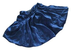 Alexander McQueen Vintage Silk Light Mini Skirt deep blue