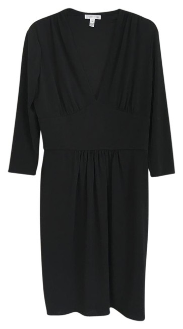 Preload https://img-static.tradesy.com/item/18539059/london-times-black-v-neck-mid-length-workoffice-dress-size-12-l-0-4-650-650.jpg