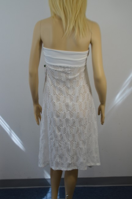 THANGA THANGA DESIGNER WHITE LACE BATHING SUIT SHEER COVER SIZE SMALL DF Image 3