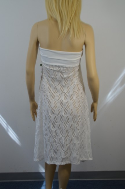 THANGA THANGA DESIGNER WHITE LACE BATHING SUIT SHEER COVER SIZE SMALL DF Image 4