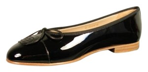 Chanel New 38.5/8 Classic Style Black Flats