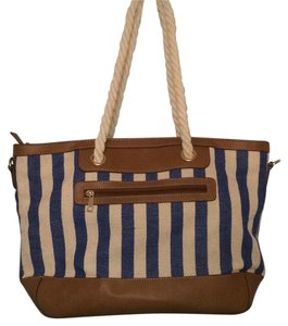Charming Charlie Tote in Navy/Tan