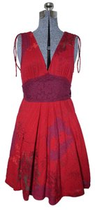 Free People short dress Red Cotton on Tradesy