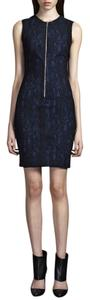 Yigal Azrouël Snake Jacquard Sheath Dress