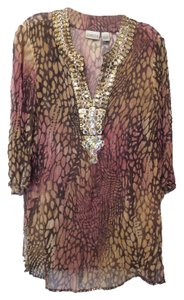 Chico's Silk Caftan Long 1 Medium Tunic