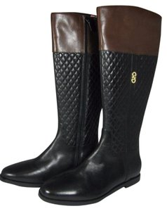 Cole Haan Quilted Brown Riding black Boots