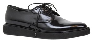 Gucci 354005 Leather Oxford Women's Black Platforms
