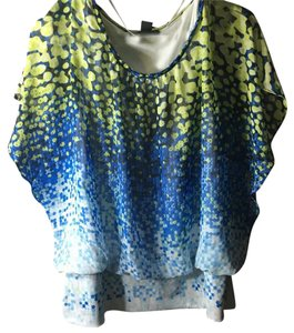 Style & Co Top Yellow blue