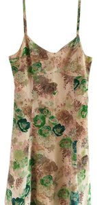 Anthropologie short dress Beige and Green Floral on Tradesy