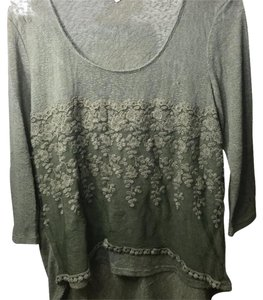 About A Girl Top Dirty green