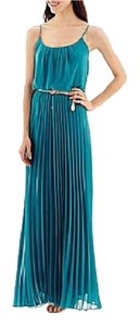 Bisou Bisou Pleated Belted Maxi Dress