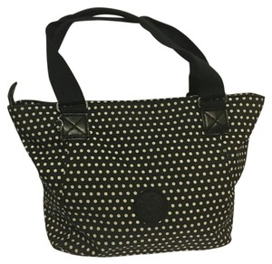 Kipling Tote in Black Polka Dot
