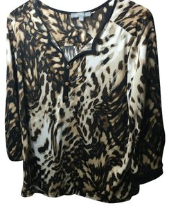 New York & Company Top Leopard print