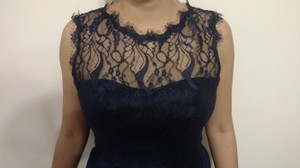 Jim Hjelm Occasions Navy Blue Style 5566 Dress