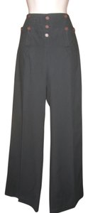 Twenty8Twelve High Waist Wide Leg Nautical Wide Leg Pants Dark Blue