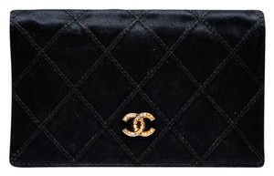 Chanel Chanel Quilted Gold Rhinestone CC Cardholder Wallet