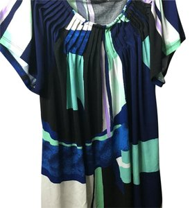 Style & Co Top Blue green black