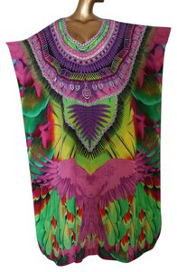 Victoria Luxury Silk Beautiful silk Kaftan with a majestic eagle spreading its wings
