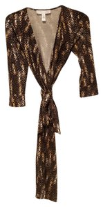 Diane von Furstenberg short dress Leopard Silk Wrap on Tradesy