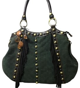 Fake gucci Satchel in Green