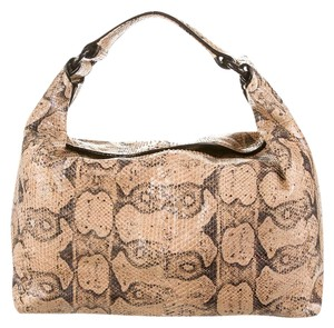 2d4ee9a0d496 Bottega Veneta Sloane Tan and Black Python Shoulder Bag - Tradesy