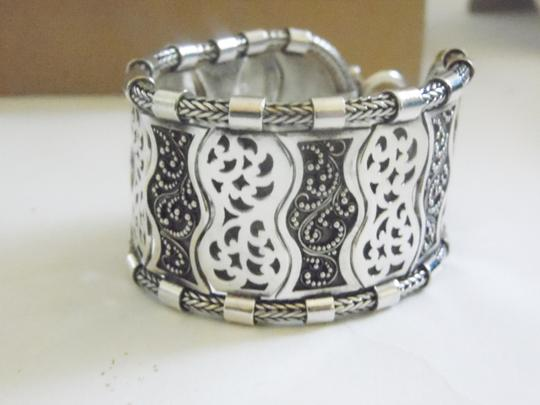 Other Artisan Hand Crafted Scroll Design Sterling Silver Toggle Bracelet fits 6' to 7