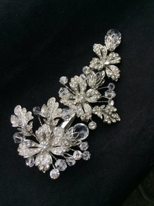 9.2.5 Crystal Hair Clip Wedding Bridal Flower Vine Comb Jewelry Pin New