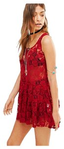 Free People short dress Dark Red on Tradesy