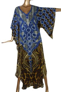 blue Maxi Dress by Victoria Luxury Silk Kaftan