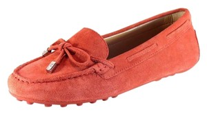 Michael Kors Daisy Moc Suede Leather Cinnamon Red Flats