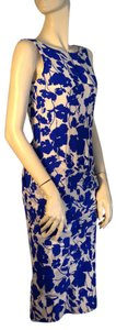 Douglas Hannant short dress Blue and White Floral Print New on Tradesy