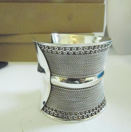 Other Artisan Crafted Concave .925 Sterling Silver Bracelet Image 2