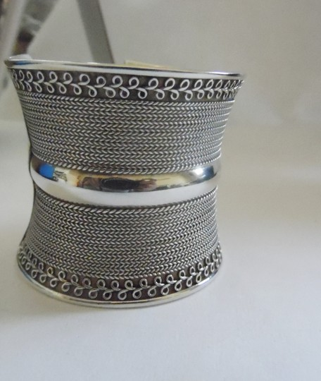 Other Artisan Crafted Concave .925 Sterling Silver Bracelet Image 3