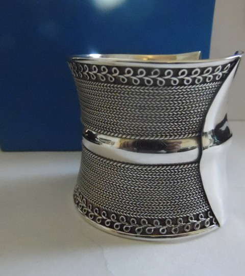 Other Artisan Crafted Concave .925 Sterling Silver Bracelet Image 4