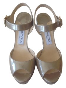 Jimmy Choo Light Khaki Platforms