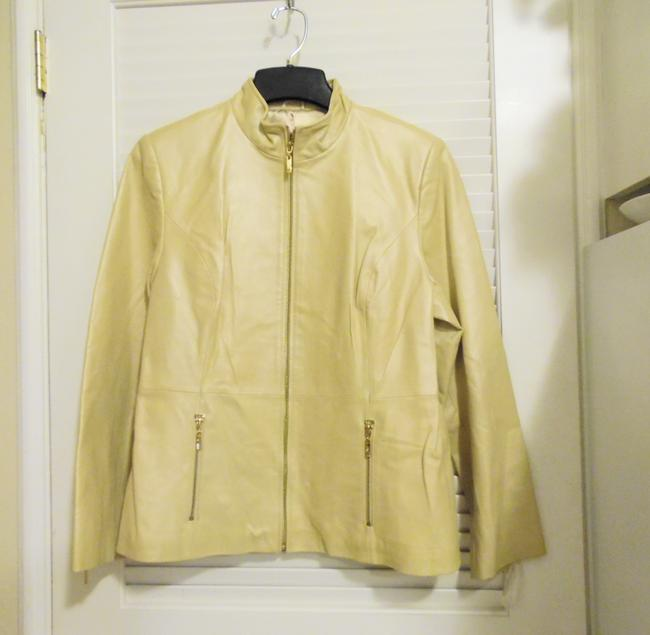 Terry Lewis Classic Luxuries Champagne Leather Jacket Image 2