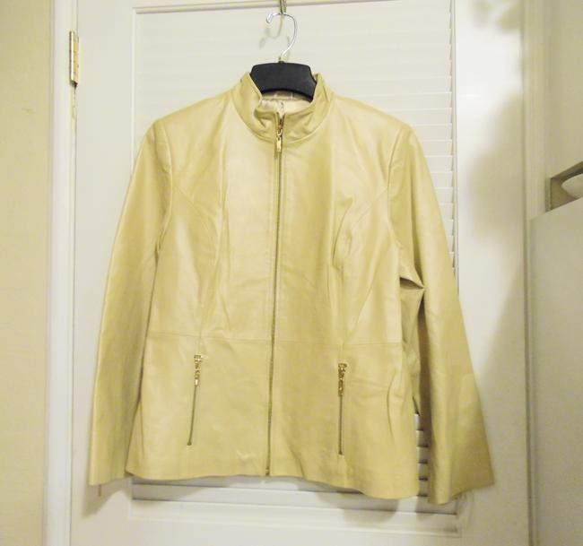 Terry Lewis Classic Luxuries Champagne Leather Jacket Image 4