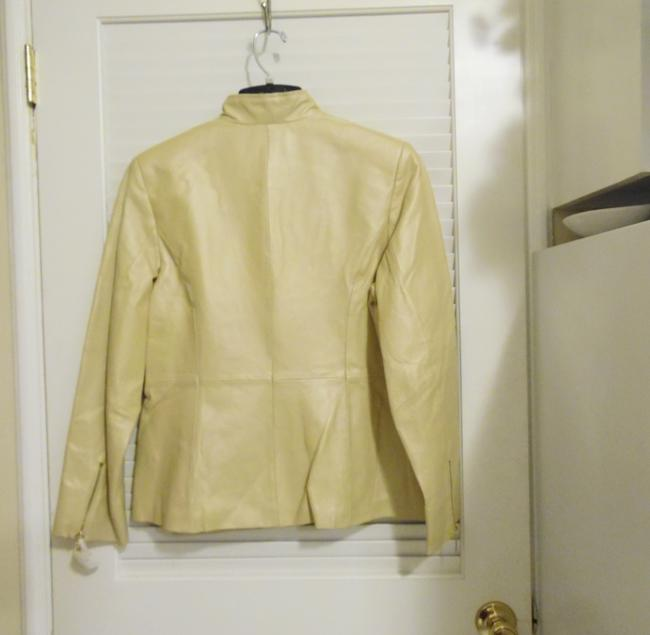 Terry Lewis Classic Luxuries Champagne Leather Jacket
