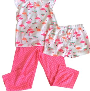 Carter's Pink Flamingo 3pc Toddler PJ Set 5T